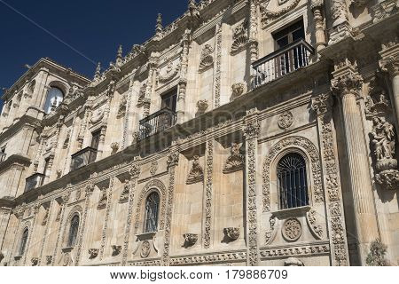 Leon (Castilla y Leon Spain): the historic San Marcos palace built in 16th century nowadays hosting the Parador.