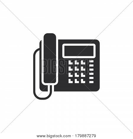 Office phone icon vector telephone solid logo illustration pictogram isolated on white