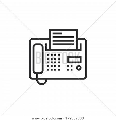 Fax line icon telefax outline vector logo illustration linear pictogram isolated on white