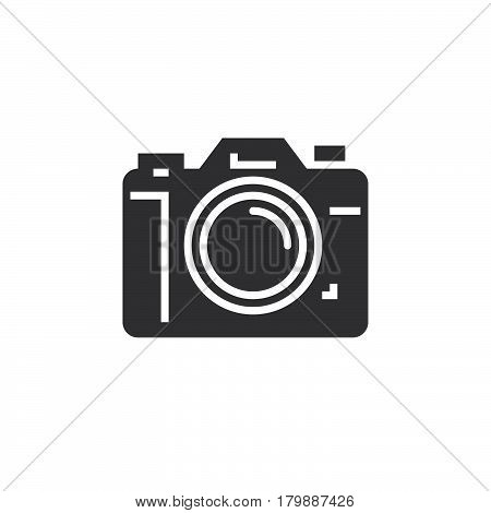 Photo camera icon vector solid logo illustration pictogram isolated on white