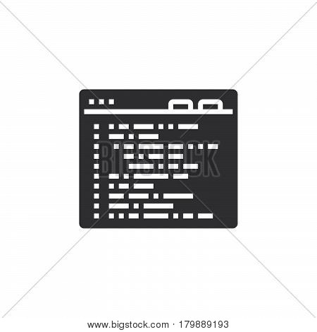 programming code icon vector solid logo illustration pictogram isolated on white