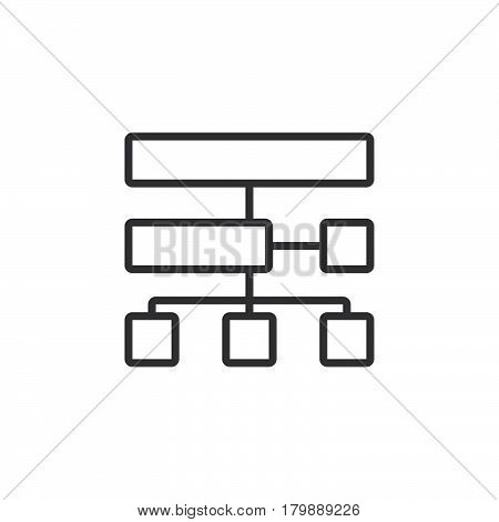 site map line icon outline vector logo illustration linear pictogram isolated on white