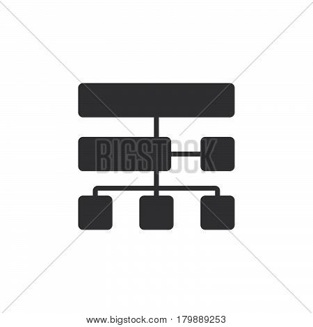 site map icon vector solid logo illustration pictogram isolated on white