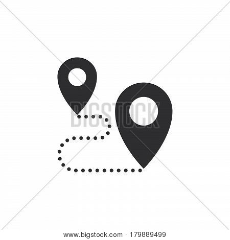 Route icon vector location solid logo illustration pictogram isolated on white