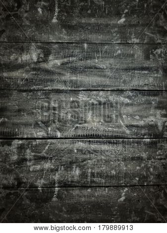 Grunge vintage gray wood background. Photo with film grain and artifacts