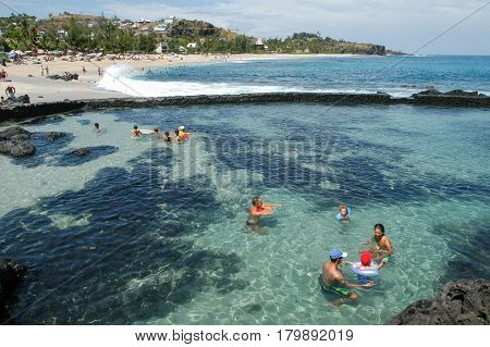 The Beach Of Boucan Canot On La Reunion Island, France