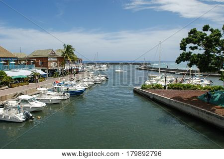 The Touristic Port Of Saint Gilles On La Reunion Island, France