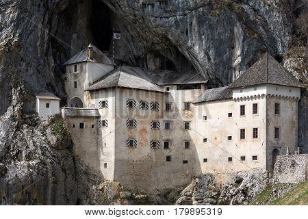 The Beautiful View Of Predjama Castle In Postojna Cave, Slovenia