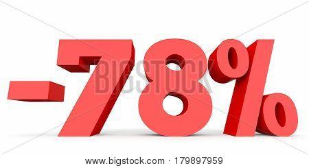 Minus Seventy Eight Percent. Discount 78 %.