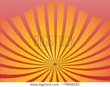 Bright abstract background with orange lines. Vector illustration.