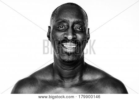 African descent man in a shoot
