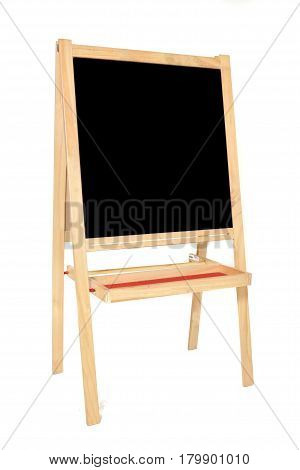 Big standing vintage empty blackboard with copyspace
