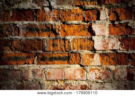 Old brickwork in wall - abstract background