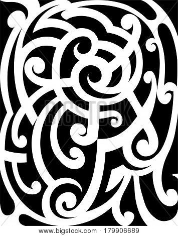 Tribal tattoo maze ornament in Maori style