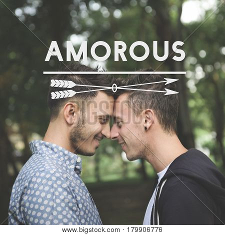Gay Couple Love Smitten Affection Words