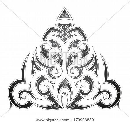 Tribal art tattoo in Maori ethnic style
