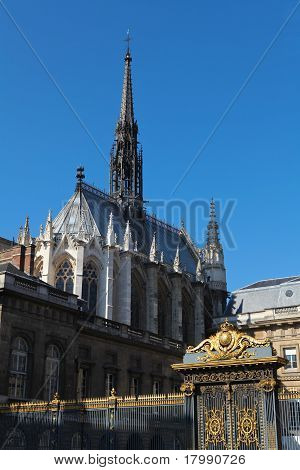 Sainte Chapelle In Paris, famous gothic chapel poster