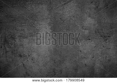Grey monochrome slate background. Empty grey concrete stone surface texture.