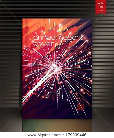 Cover design. Cover design. The modern concept of cover design in the polygonal style. Photorealistic vector image covers for books, notebooks, annual report. The optimum combination of graphics, text free space