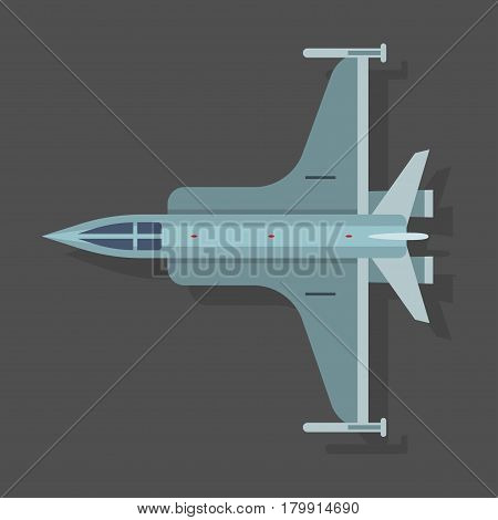 Vector mig airplane illustration plane top view passenger trip and aircraft transportation travel way to vacation sky design journey international object. Commercial tour speed aviation.