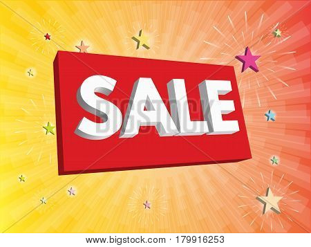 Advertising banner sale. Vector illustration. discount, fashion