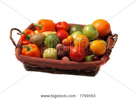 Basket With Fruits And Vegetables Contest