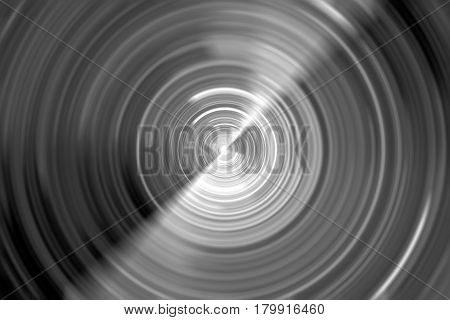 Blurred spinning wheel texutre black and white computer generated abstract intensity map 3D rendering