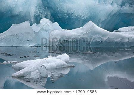 Glacial lake in Jokulsarlon, Iceland