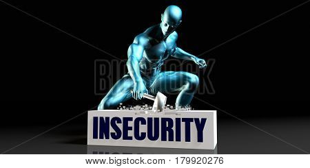 Get Rid of Insecurity and Remove the Problem 3D Illustration Render