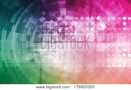 Internet Connection Data on a Secure Network 3D Illustration Render