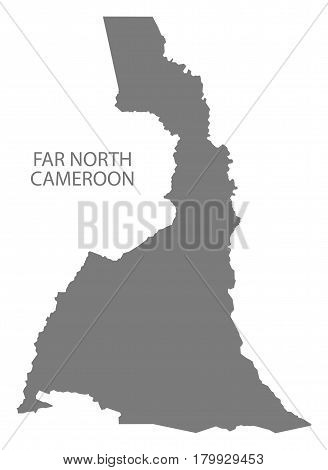 Far North Cameroon Province Map Grey Illustration Silhouette