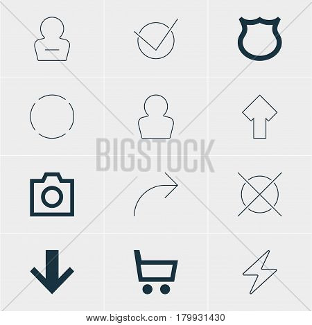 Vector Illustration Of 12 Member Icons. Editable Pack Of Remove User, Share, Avatar And Other Elements.