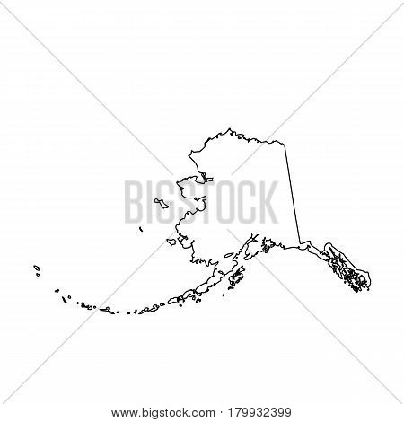 map of the U.S. state Alaska. Vector illustration