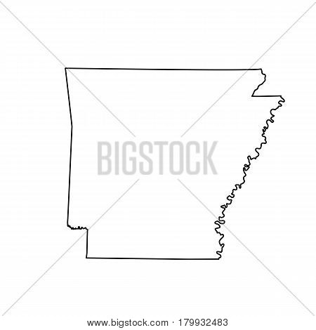 map of the U.S. state Arkansas. Vector illustration