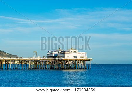 Malibu pier on a clear day California