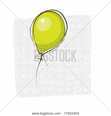 Simple Hand-drawn Balloon