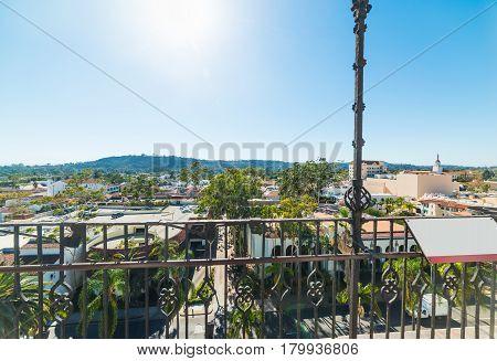 Metal railing in Santa Barbara in California