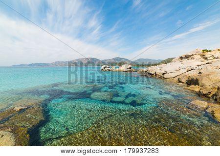 blue sea in Spiaggia del Riso Sardinia