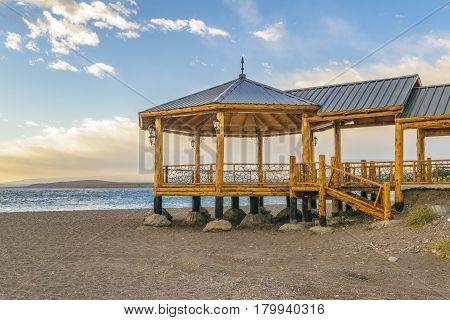 Promenade At Beach, Los Antiguos, Argentina