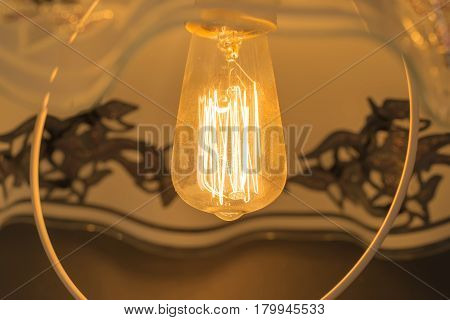 glow lamp, shines with pleasant soft light