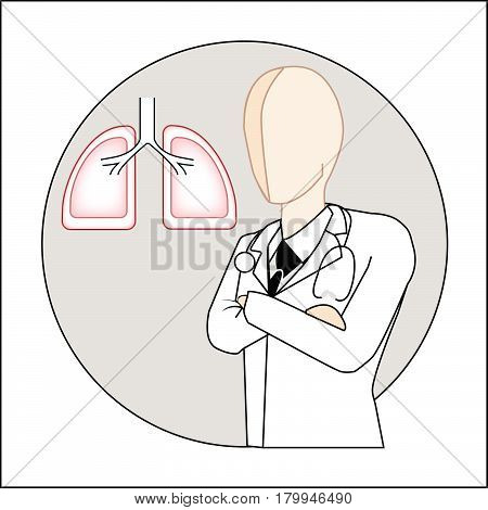thoracic surgeon white gown suit icon vector