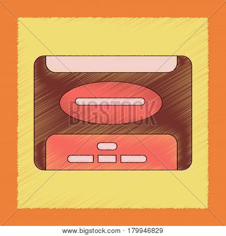 flat shading style icon of removable hard drive