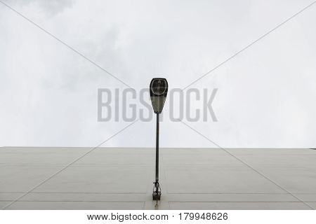 Lamppost On Cloudy