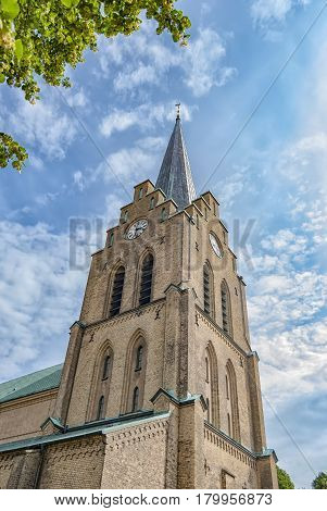 Halmstads Saint Nicholas church in the Halland region of Sweden.