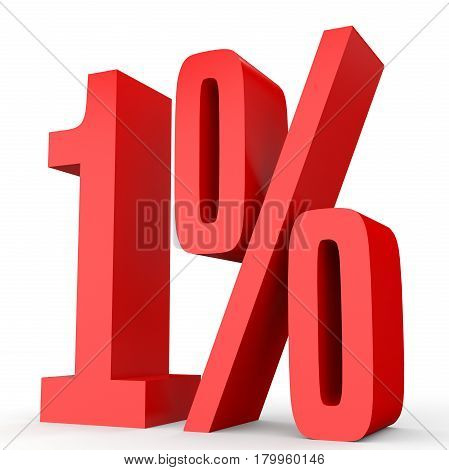 One Percent Off. Discount 1 %.
