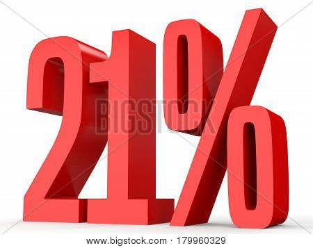 Twenty One Percent Off. Discount 21 %.