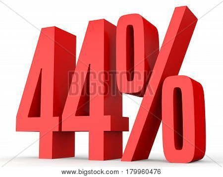 Forty Four Percent Off. Discount 44 %.