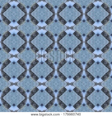Seamless Pattern. Geometric Checkered Background With Rhombus. Abstract Seamless Pattern Of Small An