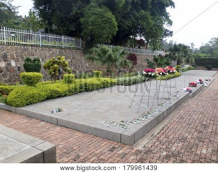 Flowers, National Memorial To The Victims Of Genocide, Kigali, Rwanda