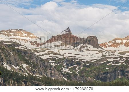 a scenic summer landscape in the southwest Colorado mountians